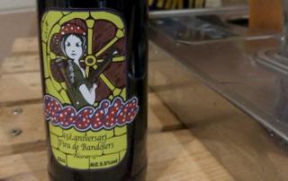 Etiqueta Cerveza Rosita Fira bandolers 2017